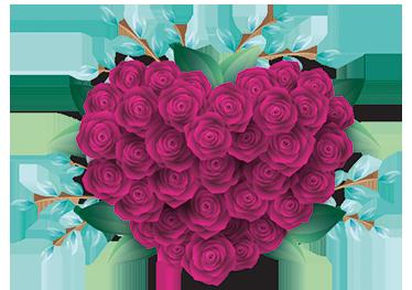 TENSTICKERS. 閉じたバラの壁のステッカー. ウォールステッカー-開花直前のバラの束のイラスト。あらゆる部屋を飾って色のバーストを追加するのに理想的です。