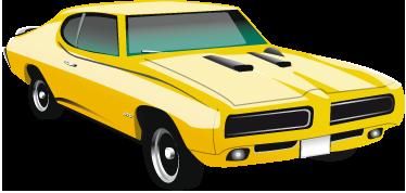 TENSTICKERS. ポンティアックgto 1970デコラティブステッカー. 70年代の古典的な黄色のポンティアックgtoの装飾的なデカール。力いっぱい!