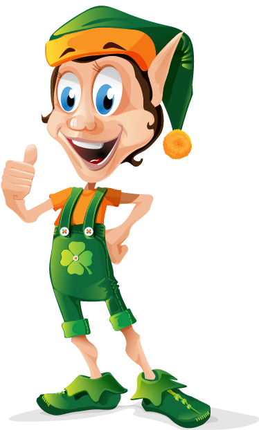 TenStickers. Shamrock Elf Kids Decal. This wall sticker of a cheerful elf is fun for environments with children or on the walls of the room of your child.