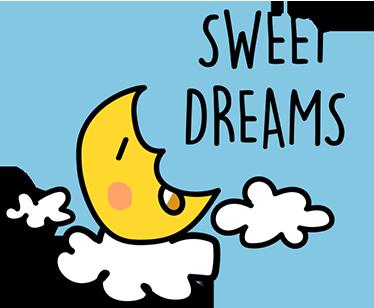 TenVinilo. Vinilo infantil dormir luna. Haz que tus hijos se relajen con este bonito dibujo adhesivo de una luna bajo un cielo estrellado.