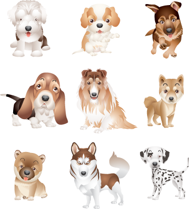 TenStickers. Puppy Club Sticker Collection. A collection of puppy designs to decorate the bedroom or play area of the little ones. These dog stickers are perfect to create a fun atmosphere.