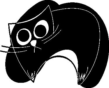 TenStickers. Sticker illustration chat noir. Stickers illustrant, juste à l'aide de quelques traits, un chat noir. Utilisez ce stickers pour personnaliser des objets ou les murs de la chambre d'enfant.