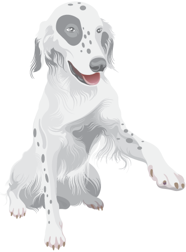 Tenstickers. Lasten tassu koiran seinälle tarra. Lasten seinä tarra - eläimet - suloinen ja rakastettava esimerkki kätensä tärinän nostamisesta.