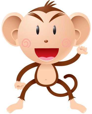 TenStickers. Kids Naughty Monkey Wall Sticker. This naughty little monkey design from our exclusive monkey wall stickers is ideal to decorate the bedroom of the little ones.