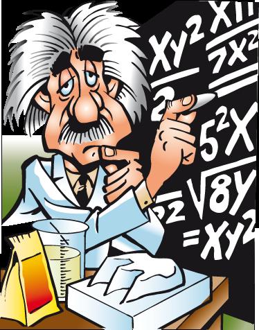 TenVinilo. Vinilo infantil Einstein aburrido. Ilustración adhesiva de un hastiado científico anotando fórmulas matemáticas en su pizarra.