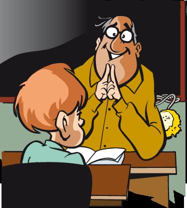 TenStickers. Kinderen leraar school muursticker. Een hartstikke leuke muursticker van een leraar dat voor de klas staat en zijn best doet om de kinderen te laten leren!