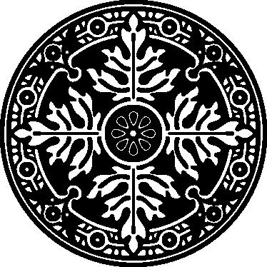 TenStickers. Wandtattoo Blumen Ornament. Verschönern Sie Ihre Wand mit diesem besonderen Wandtattoo. Verschiedene Motive fügen sich hier in einem Kreis zusammen.