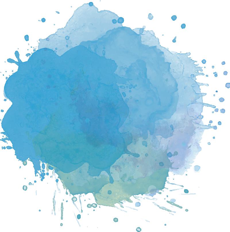 TenStickers. Autocolantes com padrões lineares Mancha de tinta. Fantásticovinil autocolante de padrões abstratoscom imagem de uma mancha de tinta que se espalha pela parede em tons de azul!