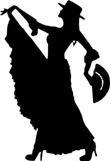 TenStickers. Flamenco Dancer Monochrome Sticker. An spectacular flamenco wall sticker illustrating a dancer! Brilliant monochrome decal for those that love Flamenco.