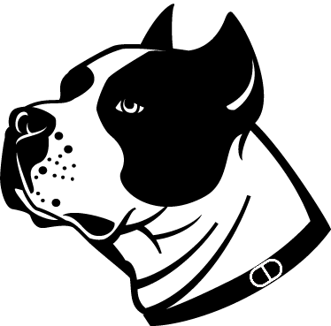 TenStickers. Staffordshire Dog Wall Sticker. Animals - Monochrome illustration of a stafford dog. Great for dog lovers. Available in 50 colours and also in various sizes.