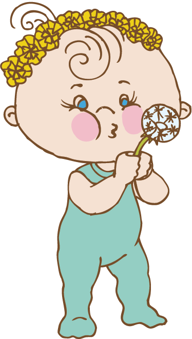 TenStickers. Little Boy with Dandelion Kids Sticker. A design from our collection of dandelion wall stickers illustrating a little boy playing with a dandelion. Ideal for decorating children's bedrooms.