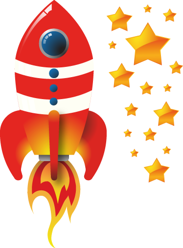 TenStickers. Spacecraft Kids Decal. Place the rocket and the stars anywhere in your child's room with our collection of space wall stickers!