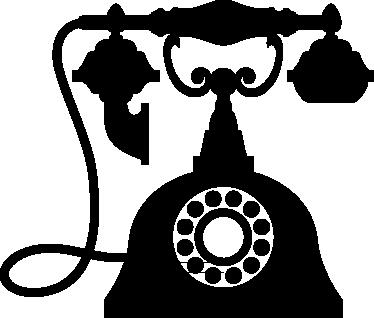 TenStickers. Sticker vintage telefoon. Een leuke muursticker van een vintage telefoon. Bepaal zelf de gewenste kleur en grootte voor deze prachtige wandsticker.