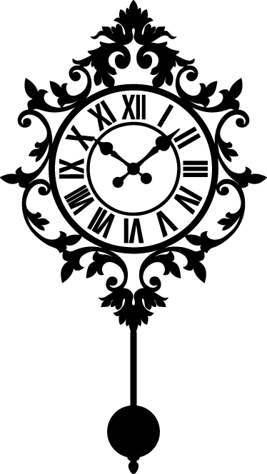 Vintage Clock Wall Sticker Color