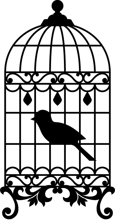 TenStickers. Bird Cage Wall Sticker. Bird wall stickers - great illustration of a bird cage! Fantastic living room decal that will will add so much decoration to your home.