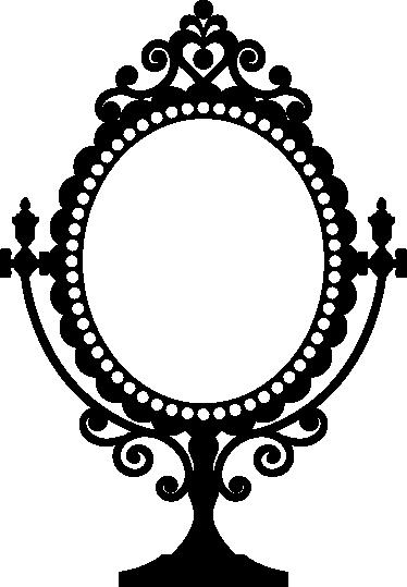 TenVinilo. Vinilo decorativo espejo vintage. Esta pieza de mobiliario adhesiva podría ser de la misma corte francesa del siglo XVIII.