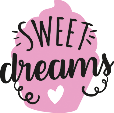 TenStickers. сладкий мечты кекс стены стикер. наклейка кекса напоминает нам, что иметь кексы, как сладкие сны! может использоваться как кухонная наклейка или наклейка для десертного магазина.