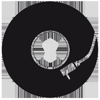 TenStickers. Sticker disco de vinil para MacBook e iPad. Sticker que ilustra um disco de vinil, ideal para decorar o seu Mac ou iPad. Tire vantagem do logo da Apple e transforme-o num disco em vinil!