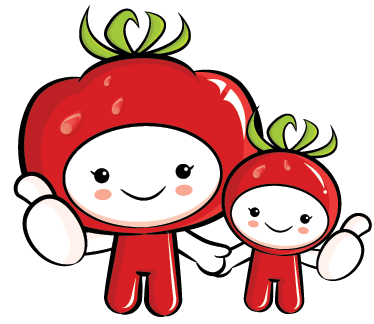 TenStickers. Tomato Kids Wall Sticker. Kitchen wall sticker of two characters dressed as cute tomatoes, perfect for bringing some colour to the cupboards, walls and appliances while you cook! Healthy kids themed stickers that everyone will love!