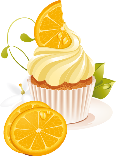 TenStickers. Orange Dessert Vinyl Sticker. A great cupcake wall sticker illustrating a delicious orange dessert with whipped cream! Brilliant food decal to decorate your kitchen.