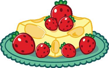 TenVinilo. Vinilo decorativo tarta queso y fresas. Divertida pegatina de un sencillo pastel que mezcla lácteo y frutas silvestres. Murales y vinilos a todo color para la cocina.