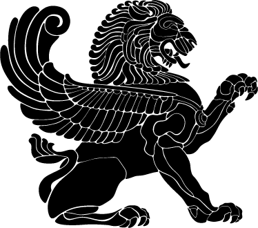 TenStickers. Winged Lion Wall Sticker. Wall Stickers - Silhouette illustration of a strong lion with wings. A mythological feature to decorate your home or business.
