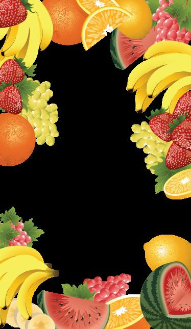 Tenstickers. Hedelmäinen ovitarra. Tarra, joka on jaettu kahteen osaan (ylempi ja alempi), jotta voit kehystää ja sisustaa seiniäsi tai ovesi hedelmäkuvioilla.