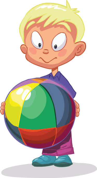 TenStickers. Multicoloured Ball Kids Sticker. A superb children's wall sticker of a little kid playing with his multicoloured ball! Great decorative vinyl decal for the little ones.