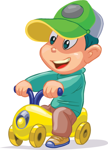 TenStickers. Kid with Toy Car Sticker. Enjoy your time with your children decorating their room with this sticker. Perfect decal to give their room a creative and colourful look.