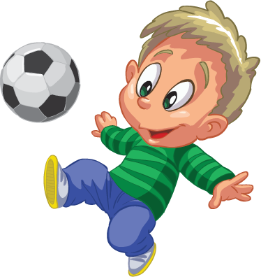 TenStickers. Kid Playing Football Sticker. Wall stickers for kids - If your child loves football, then this sticker is perfect for your child´s bedroom. A great football wall sticker to create a fun atmosphere.
