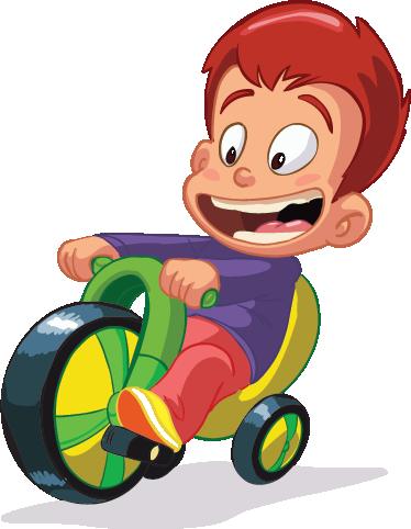TenVinilo. Vinilo infantil no sin mi bici. Pegatina de un chiquillo muy pillo subido a su triciclo.