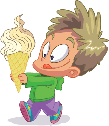 TenStickers. Kid with Ice Cream Sticker. If your kids like ice cream then give them this fun sticker. Superb decal to decorate their room!