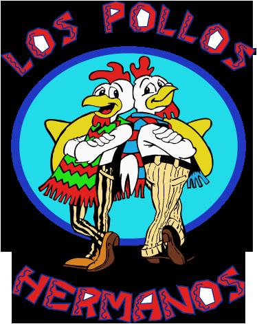TenStickers. Wandtattoo Los Pollos Hermanos. Dekorativer Sticker von dem Logo des Los Pollos Restaurants aus der amerikanischen TV Serie Breaking Bad.