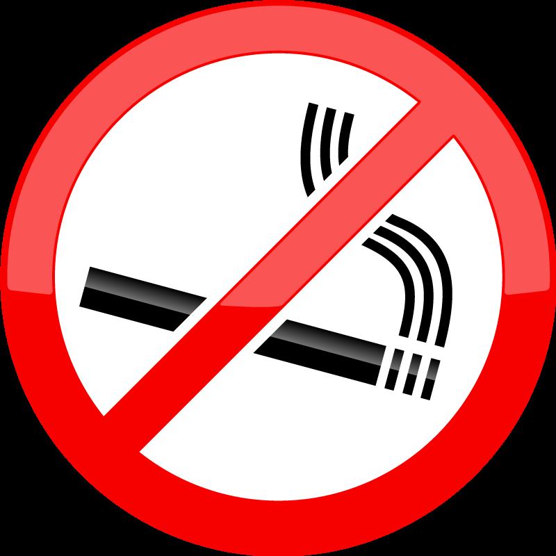 TenStickers. Sticker signalisation défense de fumer. Un sticker idéal pour indiquer à vos clients, sur votre vitrine ou dans votre restaurant, qu'ils se trouvent dans une zone non-fumeur.