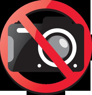 TenVinilo. Adhesivo prohibido tomar fotos. Pegatina con una cámara fotográfica para que indiques que nadie puede tomar imágenes de tu local.