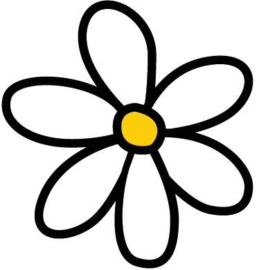 TenStickers. Daisy Car Sticker. A sticker with six white flower petals that you see on many cars in your city. Brilliant decal from our collection of daisy wall stickers.