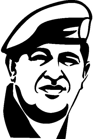 TenStickers. Sticker decoratif Chavez. Sticker mural représentant le portrait du leader révolutionnaire vénézuélien Hugo Chavez.Idée déco pour les murs de votre chambre ou pour votre salon.