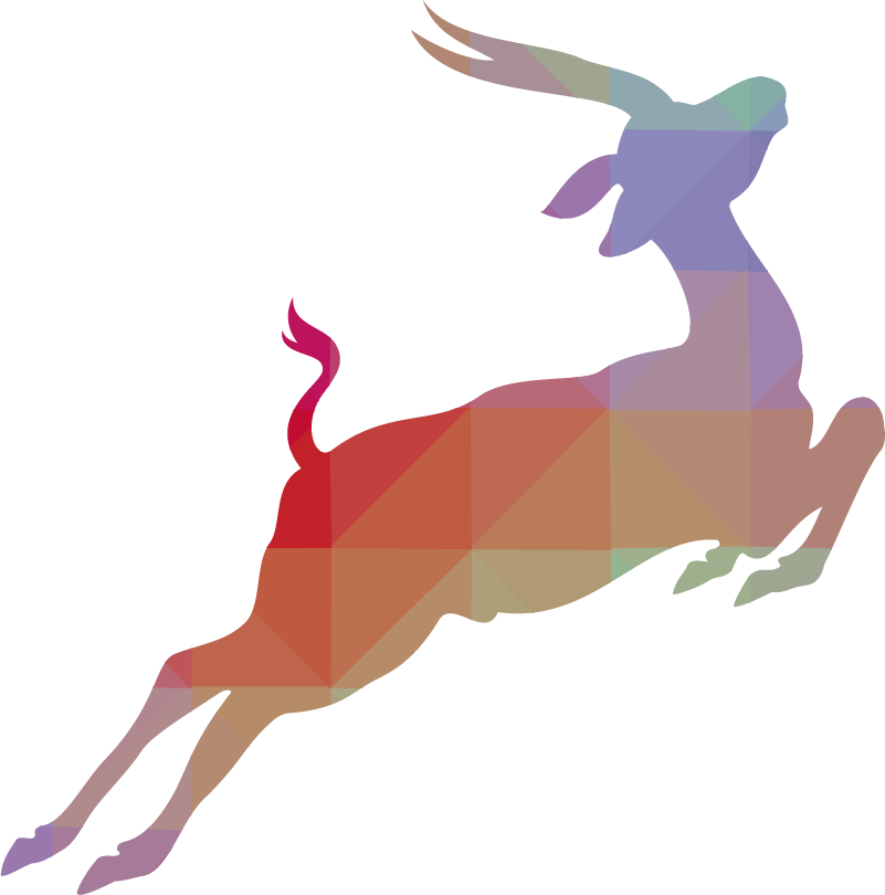TenStickers. Antelope Silhouette Wall Sticker. Wall Stickers  - Silhouette design of an Antelope. Distinctive and ideal for decorating any space. Select a size and colour.
