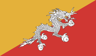 TenStickers. Flag of Bhutan Wall Sticker. Wall Stickers - The national flag of Bhutan based on the tradition of the Drkpa Lineage Of Tibetan Buddhism