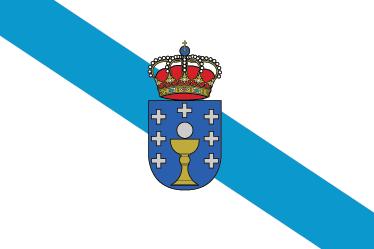 TenVinilo. Vinilo decorativo bandera Galicia. Adhesivo con el símbolo característico de esta región española.