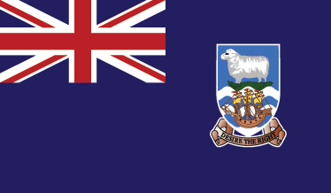 TenStickers. Falkland Islands Flag Sticker. Decals - The Falkland Islander flag. Ideal for homes or businesses. Suitable for personalising gadgets and appliances. Available in various sizes.