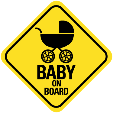 A brilliant car sticker illustrating a baby wall colour