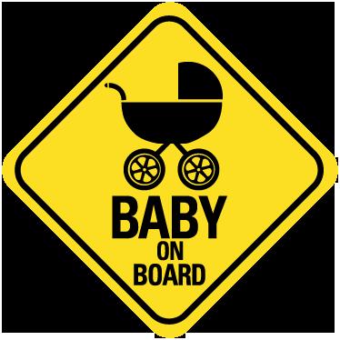 aufkleber baby an bord