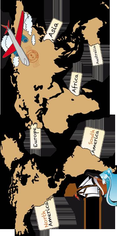 TenVinilo. Vinilo mapamundi continentes inglés. Vinilo decorativo mapamundi con los nombres de los continentes en Inglés. Un adhesivo decorativo infantil que quedará genial en las paredes de la habitación de vuestros hijos.