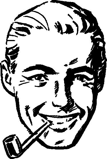 Vintage man sticker
