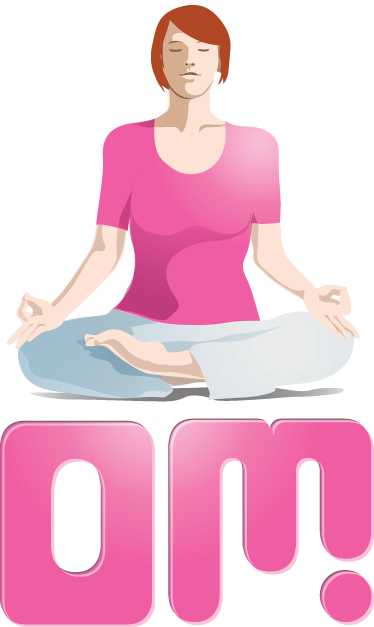 "TenStickers. Yoga Om Wall Sticker. Wall Stickers - Add a touch of peace and relaxation too your environment with this illustration of a female meditating above the text ""Om""."