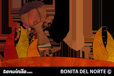 TENSTICKERS. アフリカの少年イラストステッカー. イラストレーターのボニータ・デル・ノルテによる、サバンナから挨拶をする少年の手作りの絵。