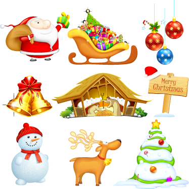 TenStickers. Collection of Christmas Stickers. A brilliant set of Christmas decal to decorate your home during this festive season! Give your home a magical atmosphere!