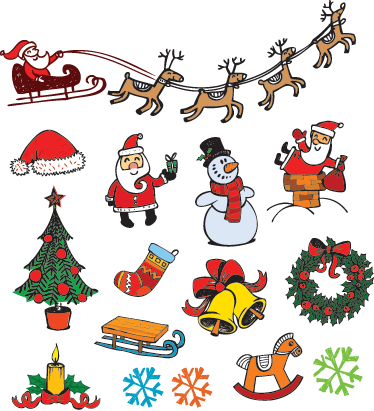 TenStickers. Christmas Illustrations Sticker Set. An amazing sticker set to decorate your home or business this Christmas time!