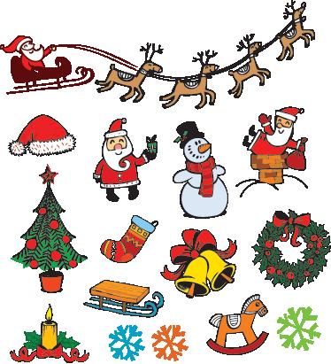 sticker decorativo navidad